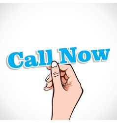 Call Now word in hand vector image