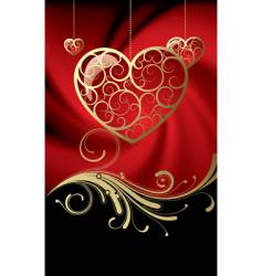 Card with hearts vector