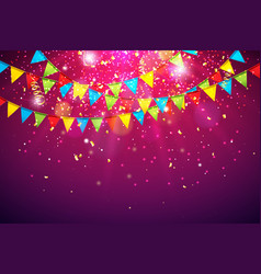 celebration with colorful vector image