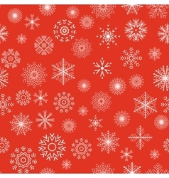 Christmas and New Year seamless gray pattern vector