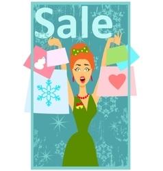 Christmas shopping design vector