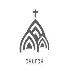 Church logo icon vector