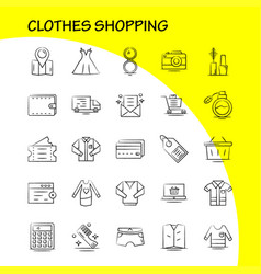 Clothes shopping hand drawn icon for web print vector