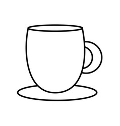coffee cup with dish object kitchen vector image