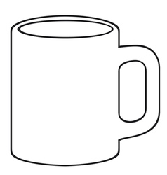 Coffee mug-white cup vector