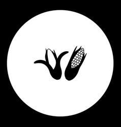 Corn plant simple silhouette black icon eps10 vector