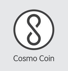Cosm - cosmo coin the market logo coin or vector