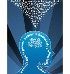 creative mind background vector image