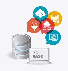 Database design vector image