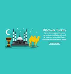 discover turkey banner horizontal concept vector image