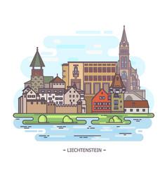 Famous historical landmarks liechtenstein vector