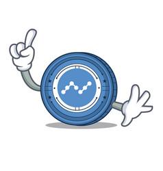 Finger nano coin mascot cartoon vector