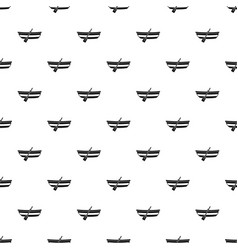 Fishing boat pattern vector
