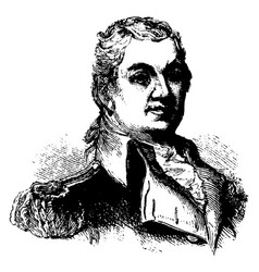 general henry knox vintage vector image