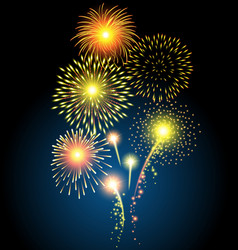 Golden firework for Christmas and Happy New Year vector image