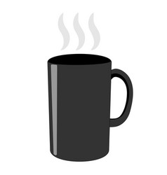 Gray tea cup sign 103 vector