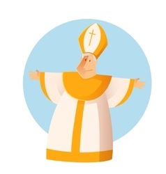 Greeting Pope vector image