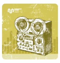 hand drawn reel recorder vector image