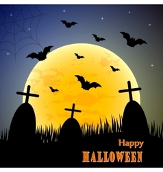 Happy halloween card background vector image
