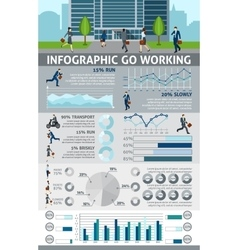 Infographic Go Working People vector