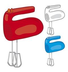 Kitchen hand mixer vector