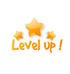 level up logo vector image