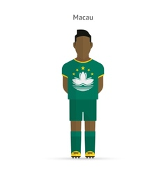 Macau football player Soccer uniform vector