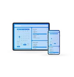 Medical clinic app concept vector