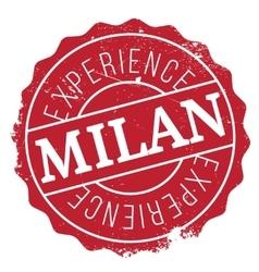 Milan stamp rubber grunge vector