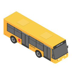 modern school bus icon isometric style vector image