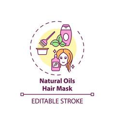 Natural oils hair mask concept icon vector