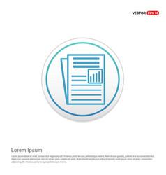newspaper icon - white circle button vector image