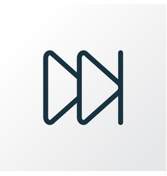 Next outline symbol premium quality isolated vector
