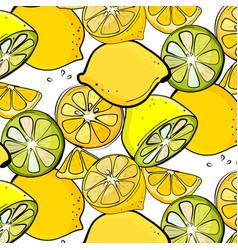 organic lemon graphic fresh slice citrus vector image
