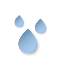 paper cut water drops eco concept vector image