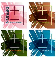Patterns setbrochure design brochure template vector
