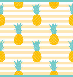 pineapple natural seamless pattern background vector image