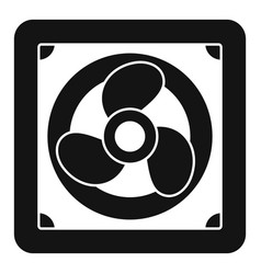 Rotor blade fan icon simple style vector