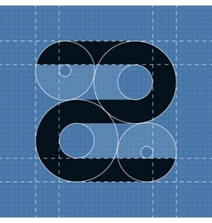 Round engineering font Symbol Z vector image