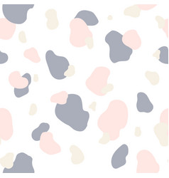 seamless pattern of pink gray and white spots vector image