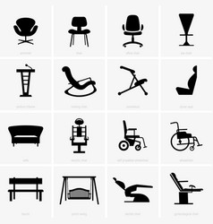 seats and chairs vector image