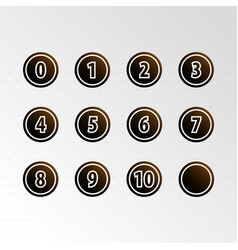 set circle numbers icon vector image