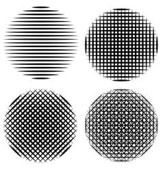 set vertical horizontal diagonal stripes circle vector image