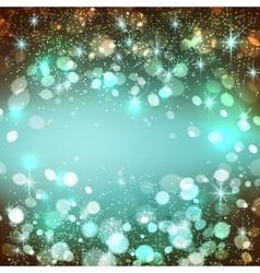 Shining bokeh vector image