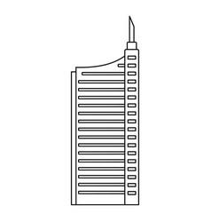 sky scraper icon outline style vector image