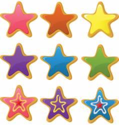 Star cookies vector
