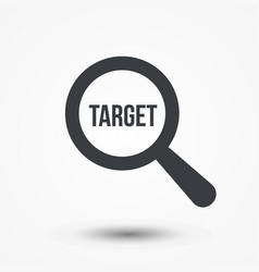 target word magnifying glass vector image