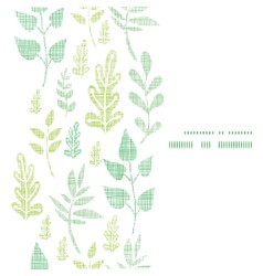 Textile textured spring leaves vertical frame vector
