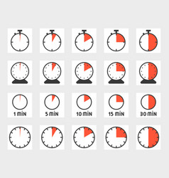 time duration vector image
