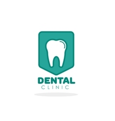 Tooth logo for dental clinic vector image